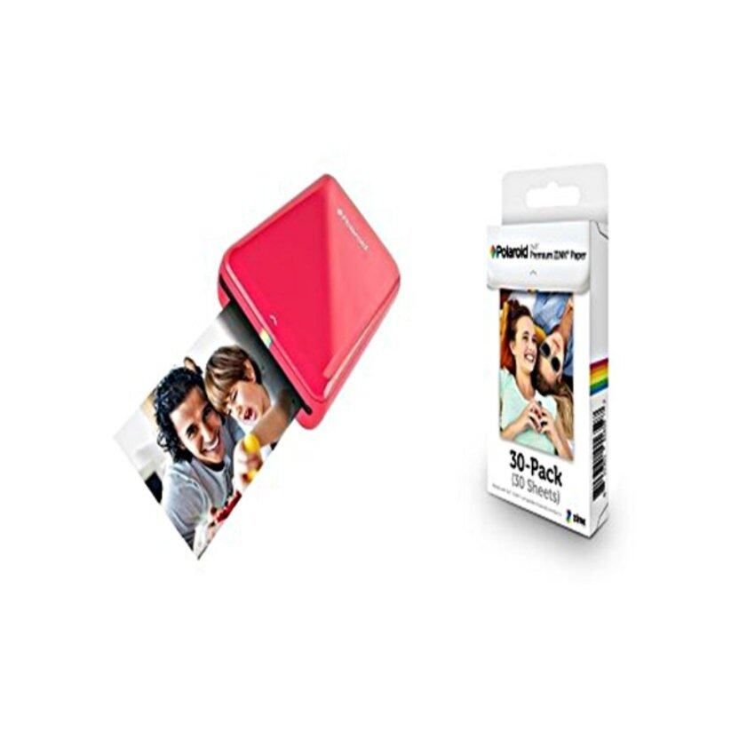 Polaroid ZIP Mobile Printer with Polaroid ZINK Photo Paper TRIPLE PACK (30 Sheets) - intl