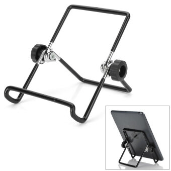 "Portable Folding Aluminum Alloy Holder Stand for 7"" Samsung Galaxy Tab P1000 - Black + Silver - intl"