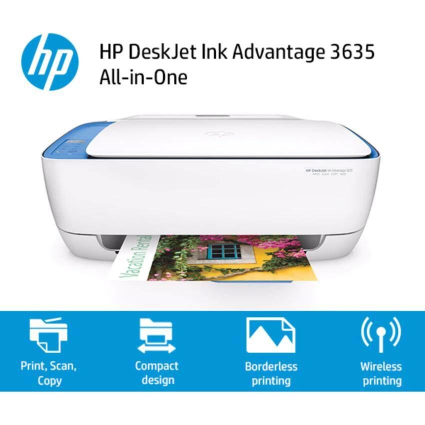 ปริ้นเตอร์ PRINTER HP Deskjet 3635 All in one มีตลับหมึกพร้อมใช้งาน