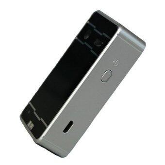 แป้นพิมพ์เสมือนไร้สายบลูทูธเลเซอร์เย็นสำหรับโทรศัพท์มือถือคอมพิวเตอร์แท็บเล็ตคอมพิวเตอร์คุณภาพสูง (เงิน)