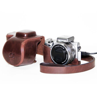 PU leather Camera Bag Case Cover Pouch for Sony A5000 A5100 NEX 3N Brown NEW-COFFEE (Intl)