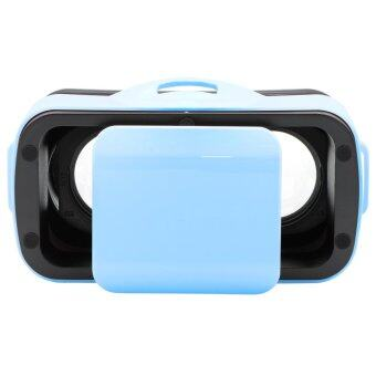 QUMOX Mini Virtual Reality 3D Glasses Headset Helmet Blue for smart phone Video Game