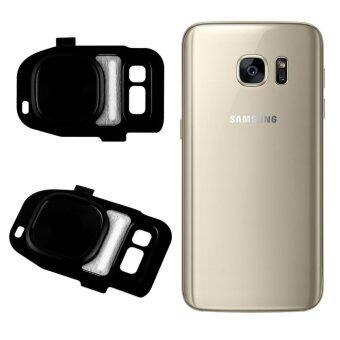 Rear Camera Cam Lens Lid Back Cover Flash For Samsung Galaxy S7/S7 Edge (Black)