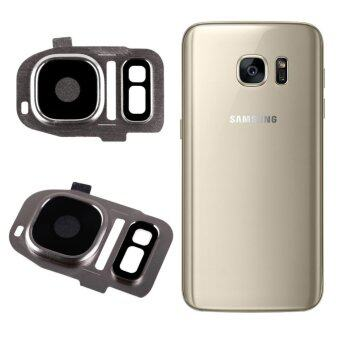 Rear Camera Cam Lens Lid Back Cover Flash For Samsung Galaxy S7/S7 Edge Golden