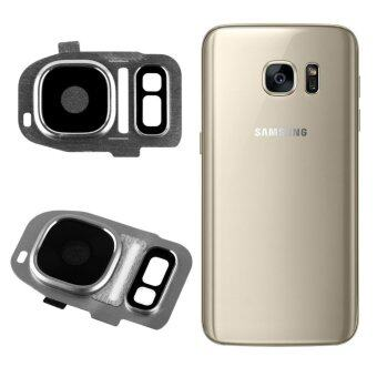 Rear Camera Cam Lens Lid Back Cover Flash For Samsung Galaxy S7/S7 Edge Silver
