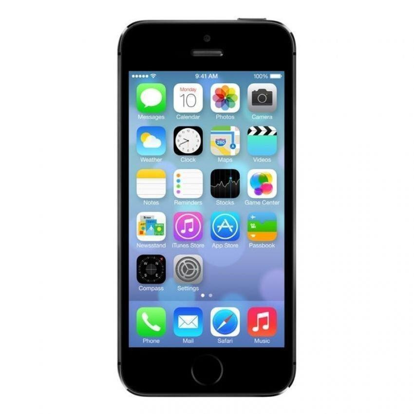 refurbished apple iphone 5s 32gb black. Black Bedroom Furniture Sets. Home Design Ideas