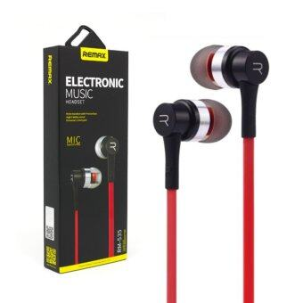 Remax 3.5mm Super Bass In-Ear Stereo Earphone HeadPhone Headset With Microphone For Android ios Phone Red