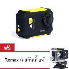 Remax Action Camera Sport รุ่น Sd-01 (สีเหลือง) ราคา 2,649 บาท(-50%)