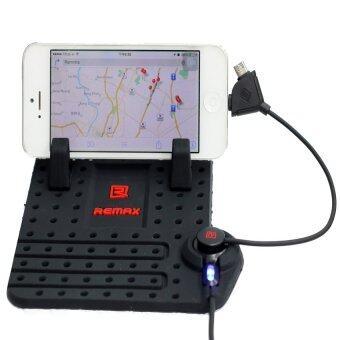 Remax Car Holder Charger แท่นวางโทรศัพท์ในรถยนต์พร้อมที่ชาร์จในตัว (สีดำ)