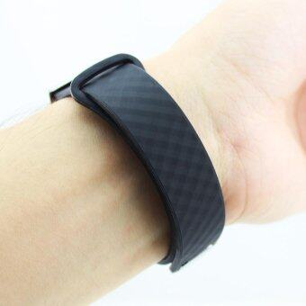 Replacement Silica Gel Wrist Strap Watchband For Huawei Honor BandA1 Watch Black - intl