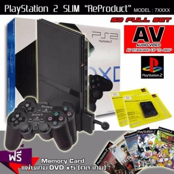 ReProduct Sony Playstation 2 Slim 77006 Full Set (รับประกัน 1 ปี)