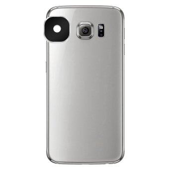 Reusable Aluminum Alloy Camera Lens Protector Sticker for Samsung Galaxy S6 / S6 Edge - Black