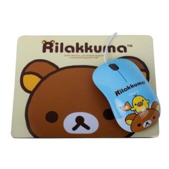 Rilakkuma M660 Optical Mouse with Mousepad Blue