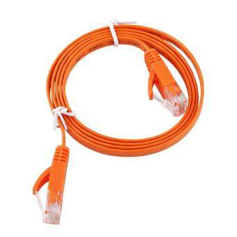 RJ45 CAT6 Ethernet Network Flat LAN Cable UTP Patch Router Cables 1000M (Orange 1meter) - intl