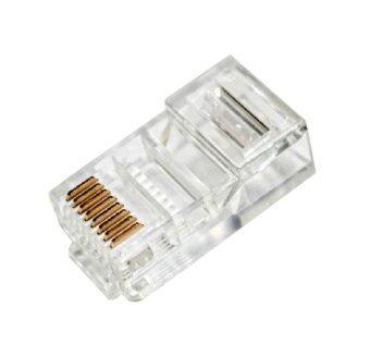 RJ45 Connector Network Cable CAT5 Crimp Ends Plug 1 Bag(100Pcs)