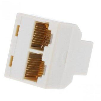 RJ45 Splitter 1 to 2 Way LAN Network Ethernet Adapter High Quality