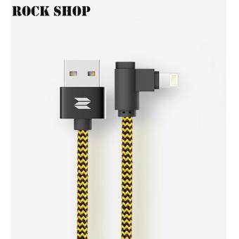 ROCK SPACE สายชาร์จ L-shape Lightning Data Cable Lยาว100CM