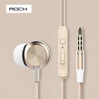 ประเทศไทย ROCK Y2 Stereo earphone หูฟัง มีไมค์ ปรับเพิ่ม-ลดเสียงได้