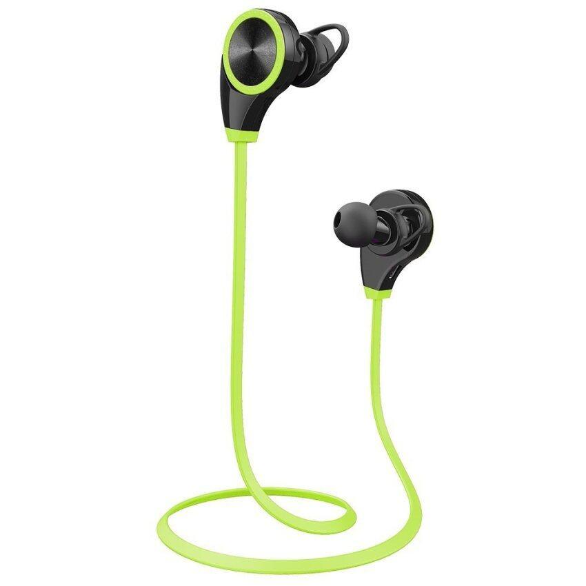 RQ8 Wireless Earphone Bluetooth 4.0 Sport Headsets Noise Cancelling Earbud (Green) - int .