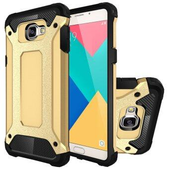 RUILEAN Heavy Duty Armor Dual Layer Hybrid Shock Absorbing TPU PCProtective Case Cover for Samsung Galaxy A9 (Gold)