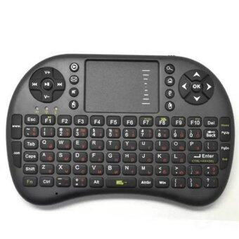Russian Version 2.4GHz Mini Wireless Keyboard with Touchpad (Black) - Intl