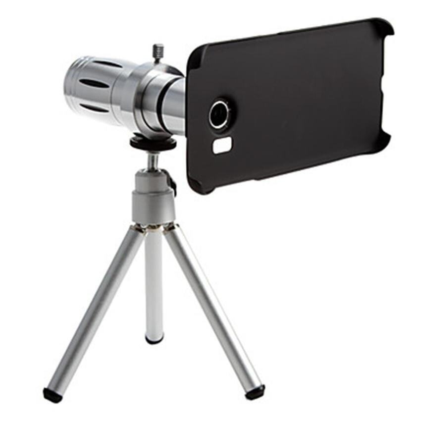 S6 edge Metal Smartphone 12 x zoom Telephoto Lens Set with Tripod for Samsung