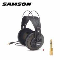 Samson SR-850 Studio Headphones หูฟังสตูดิโอระดับมืออาชีพ เสียงเบสที่โดดเด่นและเสียงสูงที่ชัดเจนสำหรับการทำเพลง ร้อง Cover งานสตูดิโอ มาพร้อม Adepter แปลง image