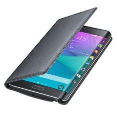 รีวิว ปกหนังตื่นเต้นสำหรับ Samsung Galaxy Note Edge N9150 (สีดำ) ราคา 205 บาท(-70%) [review]