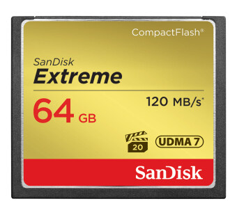 SanDisk 64GB Extreme CF Card 120MB/s read, 85MB/s write UDMA7