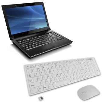 SeeedmallMultimedia 2.4G Wireless Keyboard With Optical Mouse USB Dongle Combo Set - INTL