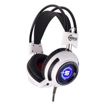 SIGNO หูฟังเกมส์มิ่ง Vibration LED รุ่น HP-806W - สีขาว