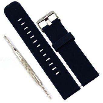 Silicone Bracelet Strap Band + Tool For MOTO 360 2nd Watch 46mm BU - intl