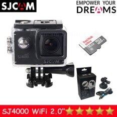 Sjcam Sj4000 Wi-Fi 12mp Model 2016เมนูไทย จอ2.0นิ้ว(black) (+ Carset+sandisk Micro Sd Class10 16gb) ราคา 3,090 บาท(-26%)