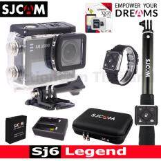 Sjcam Sj6 Legend 4k,16mp เมนูไทย(black)+kingston32gb+battery+dualcharger+bag(l)+remoteselfie+remoteband ราคา 7,340 บาท(-19%)