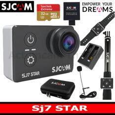 Sjcam Sj7 Star 4k เมนูไทย+sandisk 32 Gb U3 Extreme+battery+dualcharger+bag(l)+remoteselfie+remotewatch+microphone ราคา 10,290 บาท(-17%)
