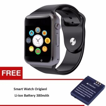 Smart Bluetooth A1 Smart Watch with Sport Pedometer Camera SIMmicro SD Memory Connectivity with iPhone Android Phone MG0053(Black/Black) (Free 1pcBattery for Smartwatch A1 DZ09 W8 V8) - intl