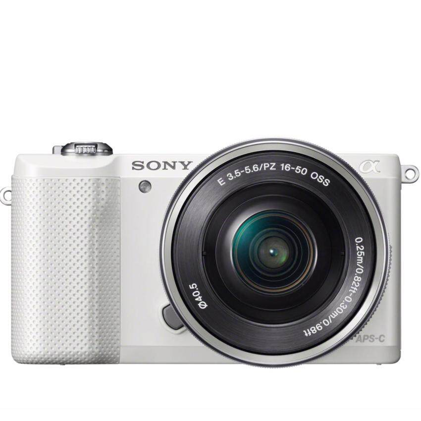 Sony Alpha a5000 Mirrorless Digital Camera with 16-50mm Lens – White