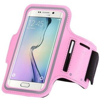 Sport Arm Band PU Leather Phone Case for Samsung Galaxy S6 Edge G9250 (Pink)