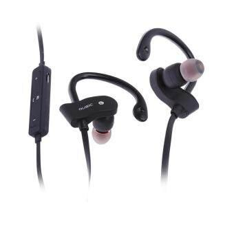 Sport Bluetooth 4.1 Wireless Stereo Sweatproof Earphone (Black) - intl