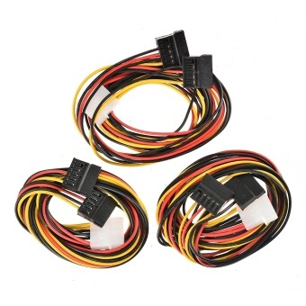 Supercart 3 x IDE Power SATA Y Adapter Cable 4 Pin to 2 x 15 Pin 75 cm