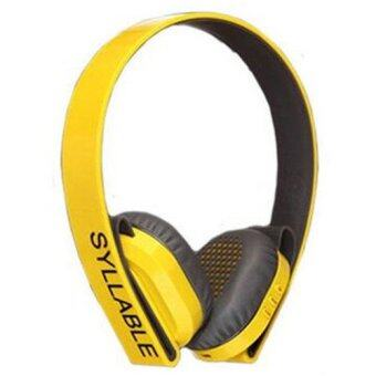 Syllable G600 Wireless Stereo Bluetooth Headset for iPhone,iPad,Samsung,Laptop,PC,Tablet (Yellow) - intl