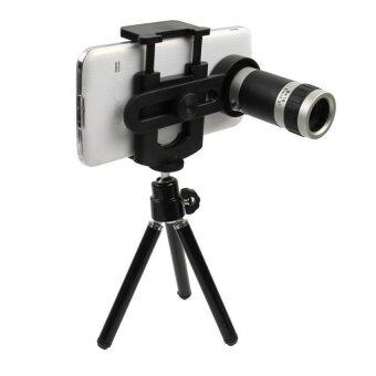 TECHO Universal Camera Lens with Mini Tripod for iPhone / Samsung Galaxy S5 5-piece Set - Intl