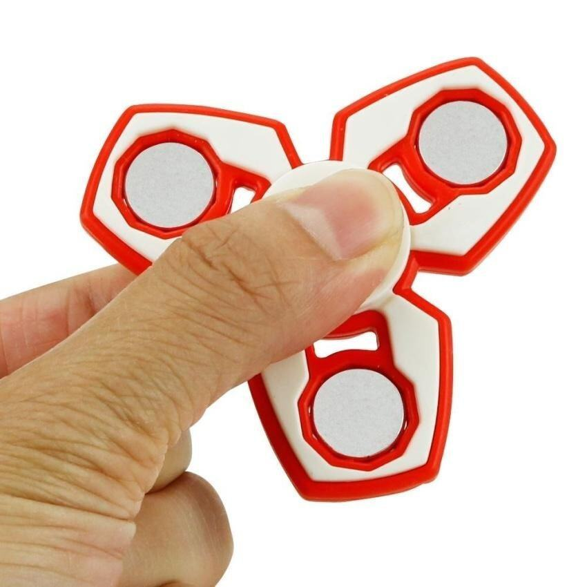 Tri-Spinner Fidget Toy Hand Spinner Relieve Anxiety And Boredom -Red - intl ...