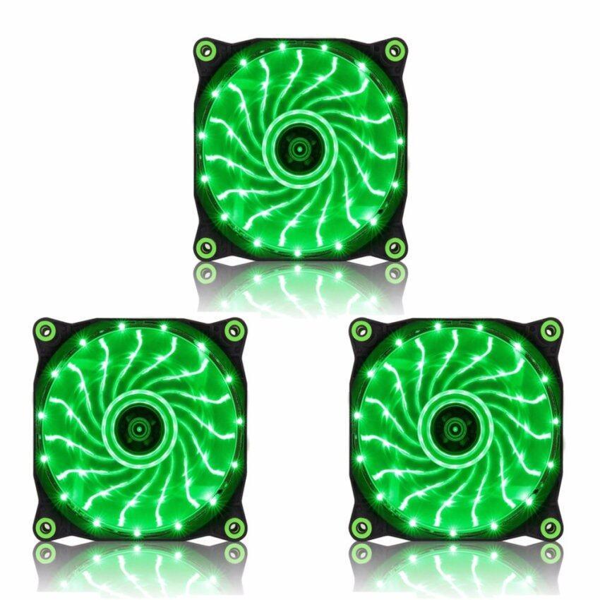 Tsunami Air Series AL-120 LED Lights Silent Edition 15X3 GREEN