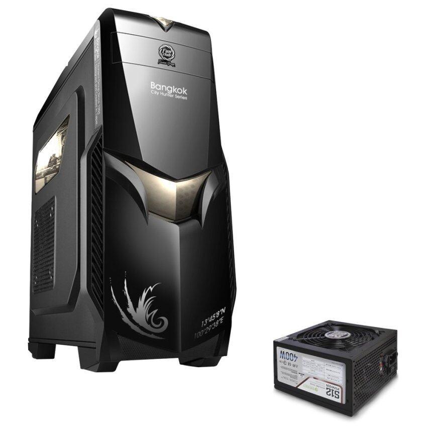 Tsunami City Hunter Bangkok Series USB 3.0 Gaming Case BLACK GREY+ Seed S12-400W Power Supply ATX