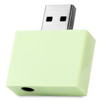 U - 01 USB Bluetooth Adapter 3.5mm Stereo HiFi Audio Speaker (GREEN)
