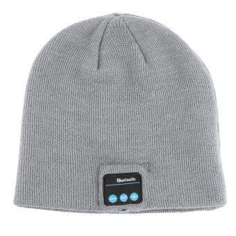 Ubit Wireless Bluetooth Earphone Men Women Outdoor Sport Bluetooth Stereo Magic Music Hat Silver - Intl