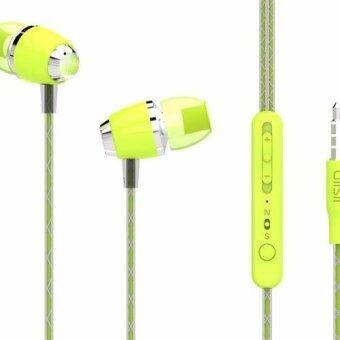 UiiSii หูฟังแบบสอดหูเบสหนักรองรับ IOS/Android/Nokia พร้อมไมค์ในตัว รุ่น U4 (Green)