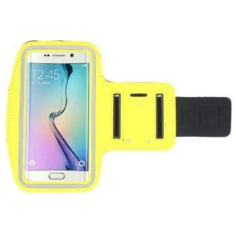 UJS Sports Gym Armband Cover for Samsung Galaxy S6 Edge New (Yellow) (Intl)