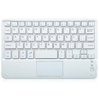 Ultra Flat Thin Rechargeable Bluetooth 3.0 Keyboard for iPad / iPhone / Samsung / HTC / Tablet PC (WHITE)